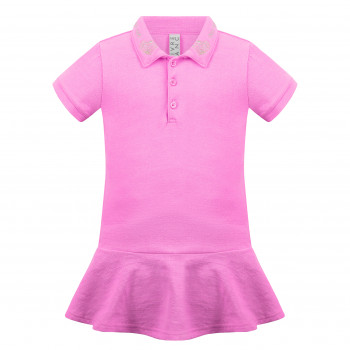 Robe Polo Poivre Blanc 4631 Bubble Pink Fille