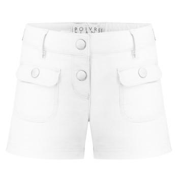 Short stretch en coton biologique Poivre Blanc 2628 White Fille