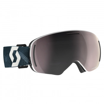 Masque de Ski / Snow Scott LCG Evo team black/white / enhancer silver chrom