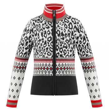 Veste en Maille Poivre Blanc KnitJacket 3502 panther black Fille