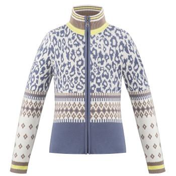 Veste en Maille Poivre Blanc KnitJacket 3502 panther blue Fille