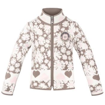 Veste en Maille Poivre Blanc KnitJacket 3502 daisy pink Fille