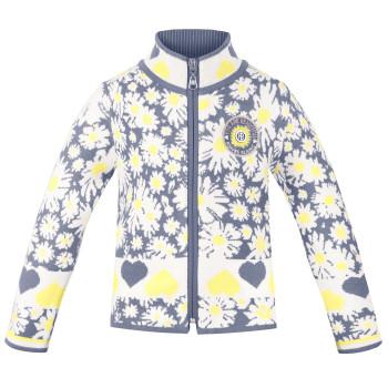 Veste en Maille Poivre Blanc KnitJacket 3502 daisy yellow Fille