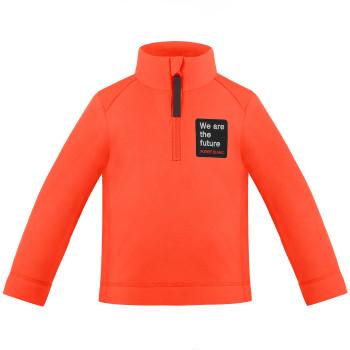 Pull Polaire Poivre Blanc FleeceSweater 1550 lava orange Garçon