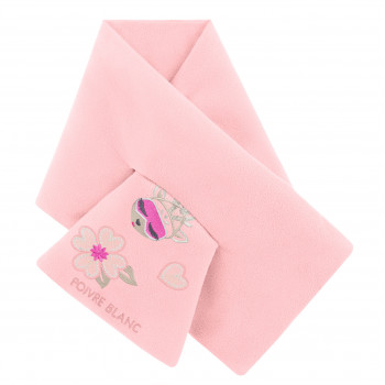 Echarpe Poivre Blanc Fleece Scarf 1590 angel pink 5 Fille