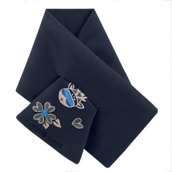 Echarpe Poivre Blanc FleeceScarf 1590 gothic blue 4 Fille