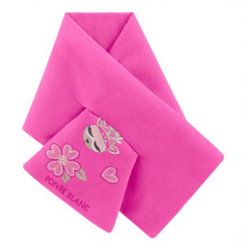 Echarpe Poivre Blanc FleeceScarf 1590 rubis pink Fille