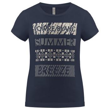 T-Shirt Poivre Blanc En Jersey de Coton Biologique 4402 Oxford Blue 2 Silver Femme