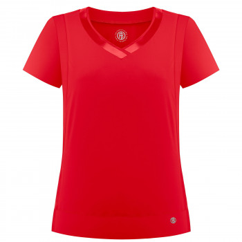 T-Shirt Poivre Blanc Stretch Performant 2702 Cherry Red Femme