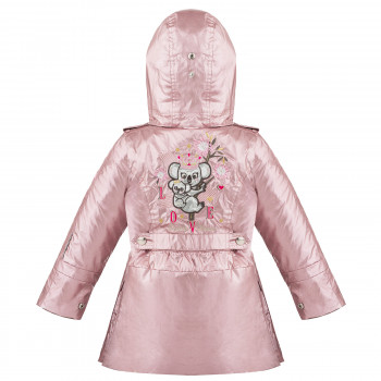 Manteau de Pluie Poivre Blanc Brillant 3-En-1 2300 Glow Pink Fille