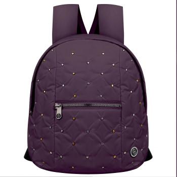 Sac a Dos a Motif Poivre Blanc 9097 Rivet Mulberry Purple