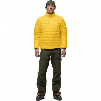 Veste Norrona lightweight down850 Jacket Men Lemon Chrome Homme
