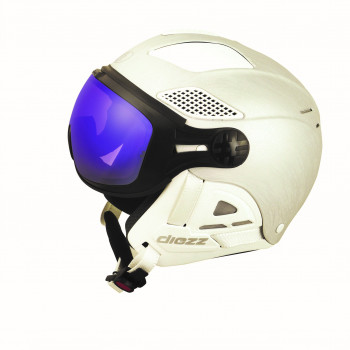 Casque de Ski Diezz VISIERE LOUNA II VENTURY Photochromique Cat 1-3 Femme Blanc