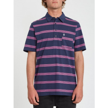 Polo Volcom Smithers Blue Black Homme
