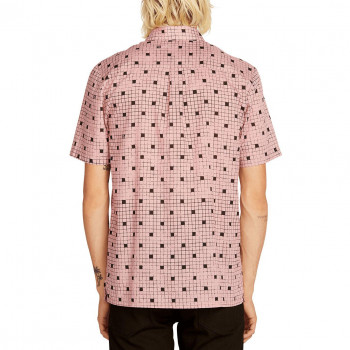 Chemise Volcom CROSSED UP LIGHT MAUVE Homme
