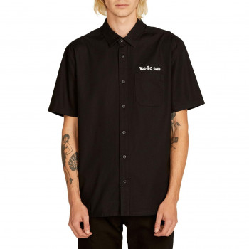 Chemise Volcom CROWD CONTROL BLACK Homme