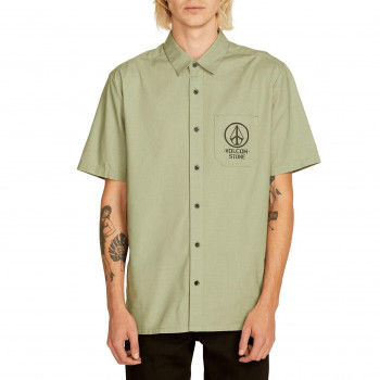Chemise Volcom CROWD CONTROL DUSTY GREEN Homme