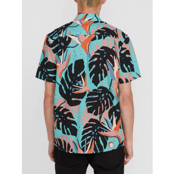 Chemise Manches Courtes Volcom MENTAWAIS Mysto Green Homme