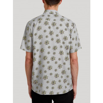 Chemise Volcom Burch Bloom Tower Grey Homme