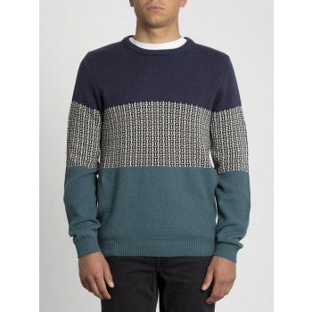 Pull Volcom Past Your Time Navy Homme