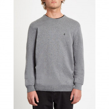 Sweat Volcom Uperstand Up Sweater Heather Grey Homme