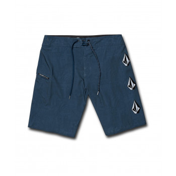 """Boardshort Volcom Deadly Stones 20"""" Airforce Blue Homme"""