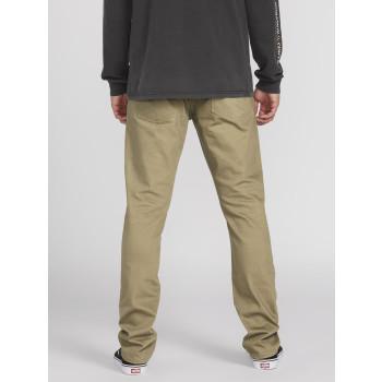 Pantalon Volcom VORTA 5 POCKET SLUB Khaki Homme