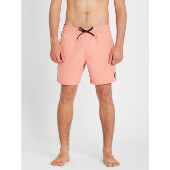 "Boardshort Volcom Lido Solid Trunk 16"" Clay Orange Homme"