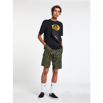"""Short Volcom Hybride Surf'n'turf Dry Cargo 21"""" Army Green Combo Homme"""
