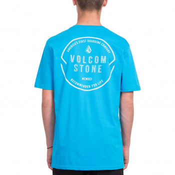 T-Shirt Volcom CHOP AROUND Bleu Homme