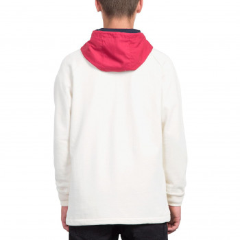 Sweat Volcom ALARIC OFF WHITE Homme