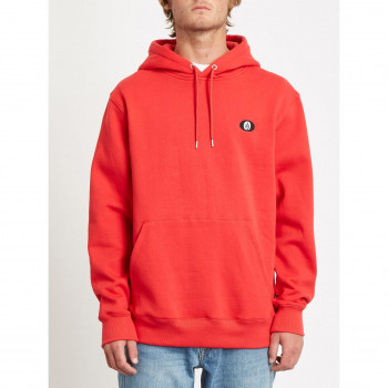 Sweat a Capuche Volcom Sngl Stn P/O Fiery Red Homme
