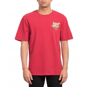 T-Shirt Volcom OZZY TIGER Rouge Homme