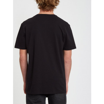 T-Shirt Manches Courtes Volcom IN BETWEEN Black Homme