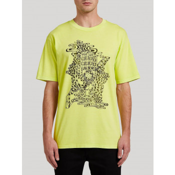 T-Shirt Volcom Clairvoyant Hilighter Green Homme