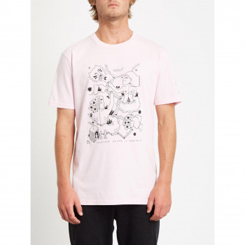 T-Shirt Volcom Briand Fa Ss Snow Pink Homme