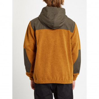 Veste a Capuche Volcom Yzzolate Lined Golden Brown Homme