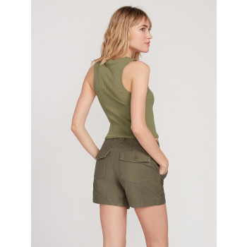 Short Volcom ARMY WHALER Army Green Combo Femme
