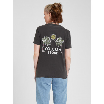 T-Shirt Volcom Lock It Up Black Femme