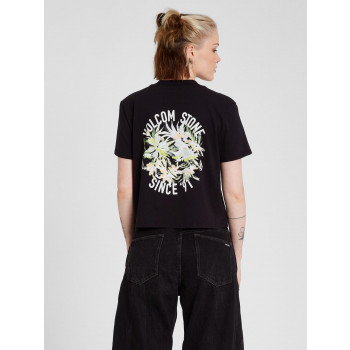 T-Shirt Volcom Pocket Dial Black Femme