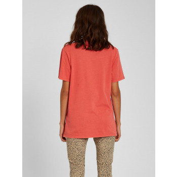 T-Shirt Volcom Solid Stone Rosewood Femme