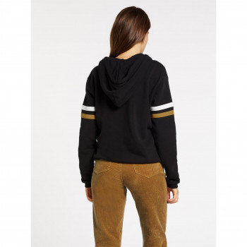 Sweat a Capuche Volcom Color Coded Hoodie Black Femme