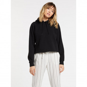 Sweat a Capuche Volcom Truly Stoked Hoodie Black Femme