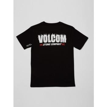 T-Shirt Volcom Company Stone Black Garçon