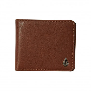 Portefeuille Volcom SLIM STONE PU WLT L BROWN Homme