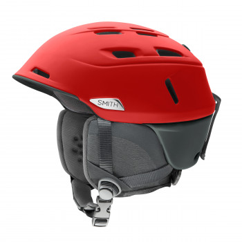Casque de Ski/Snow Smith CAMBER Matte Rise Rouge