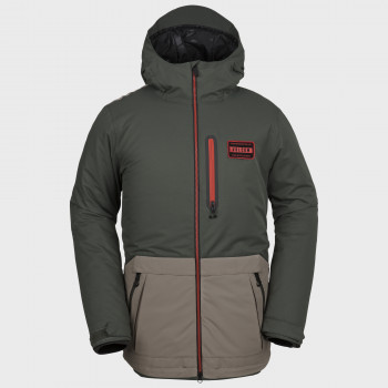 Veste Homme de Ski / Snow Volcom ANALYZER INS BLACK GREEN