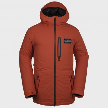 Veste Homme de Ski / Snow Volcom ANALYZER INS BURNT ORANGE