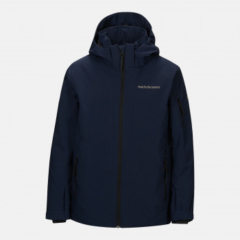 Veste de Ski/Snow Peak Performance Jr Maroon Jacket Blue Shadow Garçon