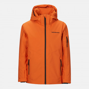 Veste de Ski/Snow Peak Performance Jr Maroon Jacket Orange Altitude Garçon